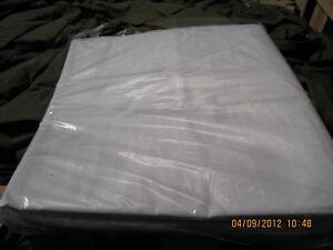 COTTON RICH WHITE SHEET NEW  -   178 BY 304 CM