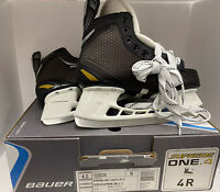 New BAUER SUPREME ONE.4 ICE HOCKEY SKATES SIZE 4 R PERFECT CONDITION New