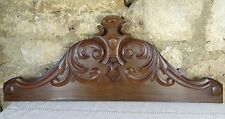 """32.5"""" Antique French Carved Walnut Pediment/Fronton - 2 Pieces of the same Model"""