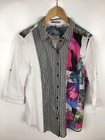 ERFO Bluse, mehrfarbig, Größe 44, 100% Baumwolle