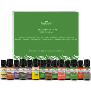 Plant Therapy Essential Oils Top 14 Singles Set 100% Pure, Undiluted