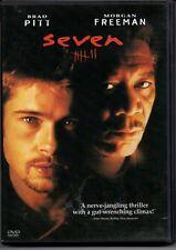 DVD Seven Brad Pitt and Morgan Freeman Gwyneth Paltrow Mystery Thriller