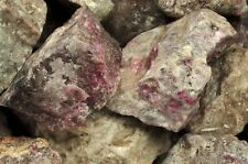 5 Pounds of Natural Ruby in Quartz Rough Stones - Cabbing, Tumble Rocks, Reiki
