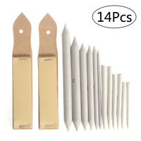 12pcs Blending Stumps and Tortillions Set with 2 pieces Sandpaper Pencil