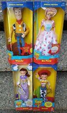 "Bo Peep Doll Woody Disney Toy Story 2  Separate Boxes Jessie NRFB Lot 4 VG """