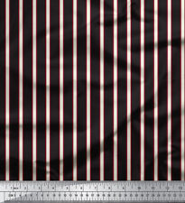 Soimoi Stripe Print 44 Inches Wide 20 GSM Pure Silk Fabric Material By The Yard
