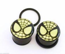 "PAIR-Spiderman DC Comics Glow Acrylic Single Flare Plugs 12mm/1/2"" Gauge Body J"