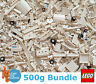 Genuine Lego 500g Bundle of Mixed White Bricks Joblot + Free Minifigure