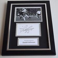 David Johnson Signed A4 FRAMED photo Autograph display Liverpool Football COA
