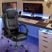 Bonded Leather High Back Office Desk Chair Swivel Task Chair Ergonomic Rolling