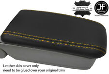 YELLOW STITCH REAL LEATHER ARMREST LID COVER FITS SUBARU FORESTER SG9 2006-2008