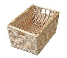 Buff Willow Wicker Storage Basket Kitchen Small Book Box Bathroom PrimarySchool