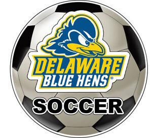 Delaware Blue Hens Soccer Ball Vinyl Decal Sticker 2-Pack