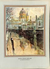 L'église Notre-Dame-au-delà-de-la-Dyle à Malines Belgique par  ILLUSTRATION 1955
