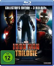 Iron Man Trilogy 3 Movie Collection Marvel Comics Blu-Ray - Region Free