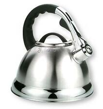 3.5L Stainless Steel Whistling Kettle for Boat Hob Gas Electric or Induction NEW