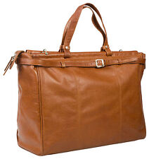TAN LEATHER LARGE HOLDALL DUFFLE BAG/ CABIN BAG/ HIDEONLINE VINTAGE TRAVEL BAG