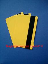 25 Magnetkarten LOCO gelb, Kundenkarten, Waschkarten, Tankkarten, Kartendrucker