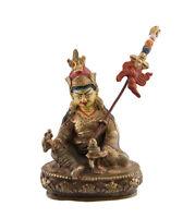 Soprammobile Tibetano Guru Rinpoche Padmasambhava 11 CM Rame Nepal AFR9-6098