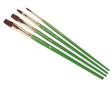 Humbrol 3, 5, 7 & 10 Acrylic & Enamel Soft Synthetic Hair Flat Brush Set AG4302
