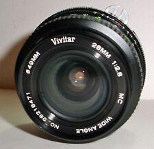 Vintage Vivitar Camera Lens 28mm Wide Angle Multi Coated Ai Nikon Mount 28218471