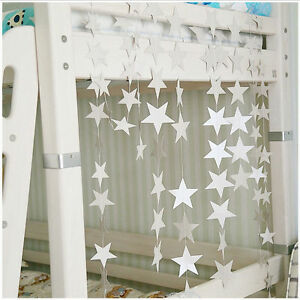 2M/4M Paper Star Garland Bunting Banner Party Wedding Baby Shower Decorations