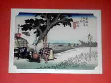 Woodblock Print HIROSHIGE ANDO (R/MH-5) Hodogaya 53 Stations one of the Tokaido