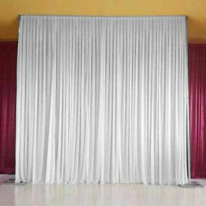 2M X 2M White Drape Curtains Stage Backdrop Photography Background Wedding