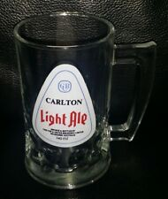 RARE COLLECTABLE CUB CARLTON LIGHT ALE BEER GLASS MUG BRAND NEW NEVER USED