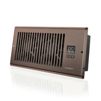 "AIRTAP T4, Quiet Register Booster Fan, Heating / Cooling 4 x 10"" Register Bronze"