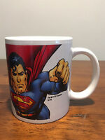 DC Comics Superman Coffee Mug Milk Glass New In Box Justice League Movie Show DC