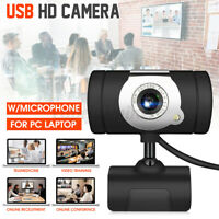 USB 2.0 HD Web Cam Camera Webcam with Microphone for Computer PC Laptop Desktop