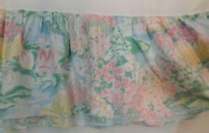 EUC! RARE Vintage Claude Monet Water Lilies Martex Atelier Pastel Twin Bedskirt