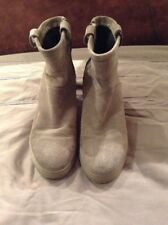 Taupe Suede Ankle Boots Hidden Heal Wedge Size 39