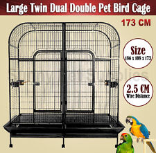 Extra Large Dual Double Sided Pet Bird Cage Parrot Cockatoo Aviary Premium 173CM