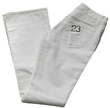 Paper Denim & Cloth Super Low 5 Flare White Boot Cut Low Rise Jeans - Size 23
