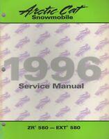 1996 ARCTIC CAT SNOWMOBILE  ZR 580, EXT 580  SERVICE MANUAL 2255-311 (875)