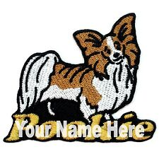 Papillon Dog Custom Iron-on Patch With Name Personalized Free