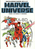 ENCYCLOPEDIE MARVEL UNIVERSE 2 -1995 -TBE/ CN- FDP 0€ LE 2è VOLUME ET +