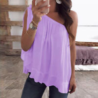 Womens Sleeveless Lace Baggy Casual Vest Tops Blouse Tank Top Summer Plus Size