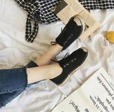 Women's Comfy Breathable  lace up Loafers Round Toe Shoes Flats Casual Sneakers