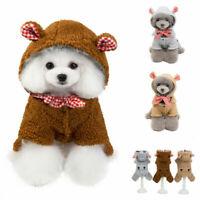 Hot Soft Fleece Dog Clothes Winter Dog Jumpsuit Clothing Warm Dog Coat Pajamas