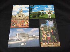 Disneyland Disney World Vintage 1980 Postcards Lot of 4