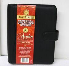 Day Timer 84131 Avalon Leatherlike Vinyl Black Planner Organizer Desk Size