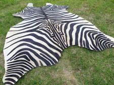 Huuuuuuge ! Zebra Black & White print printed Cowhide Rug natural Cow Hide Skin