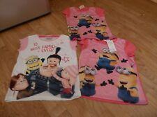 3 Paquete De Niñas Rosa Mi Villano Favorito 3 ™ camisetas 5-6 años Minions 2 Diseños * Nuevo *