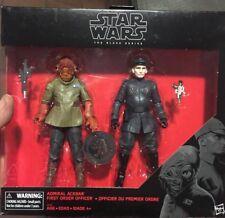 "Star Wars Pack Admiral Ackbar & First Order Official 6"" Black Series"