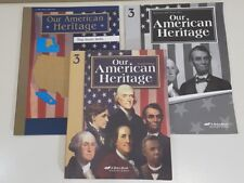 ABeka Books Our American Heritage History Map Study Skills Quizzes Tests Key Lot