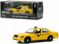 2008 FORD CROWN VICTORIA NYC TAXI JOHN WICK 2 1/24 DIECAST CAR GREENLIGHT 84113