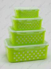 Set 4 Contenitori In Plastica Con Coperchio Clic Clac Alimenti Colorati idea